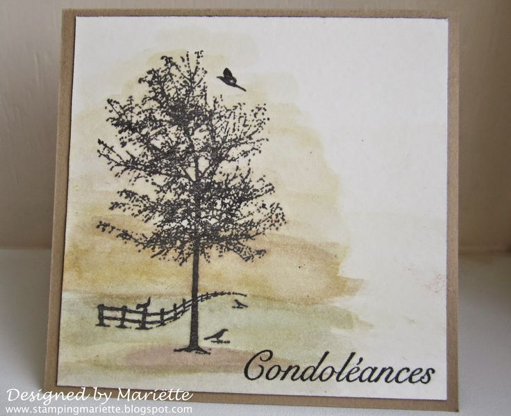 Stamping Mariëtte: Condoleance kaart