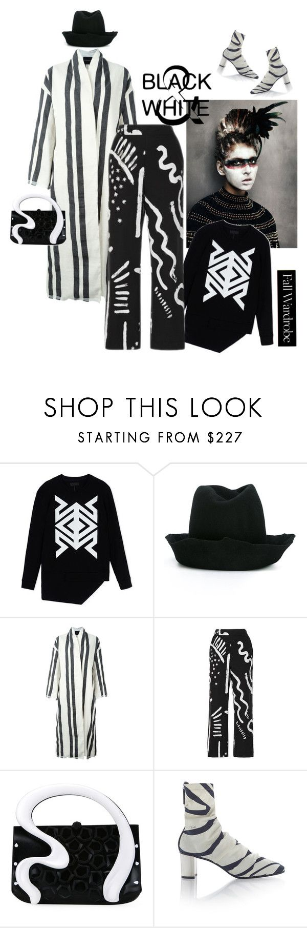 """""""Black and White"""" by naturalbornstyler ❤ liked on Polyvore featuring D.GNAK by KANG.D, REINHARD PLANK, Erika Cavallini Semi-Couture, Isa Arfen, Gabriella Ingram and Emilio Pucci"""