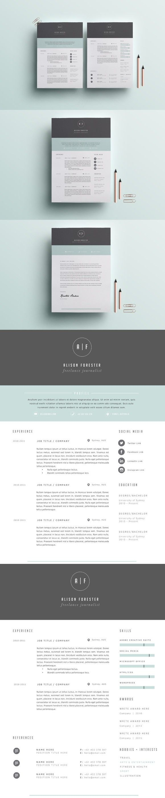 Resume Template 3 Page 769 best Resume