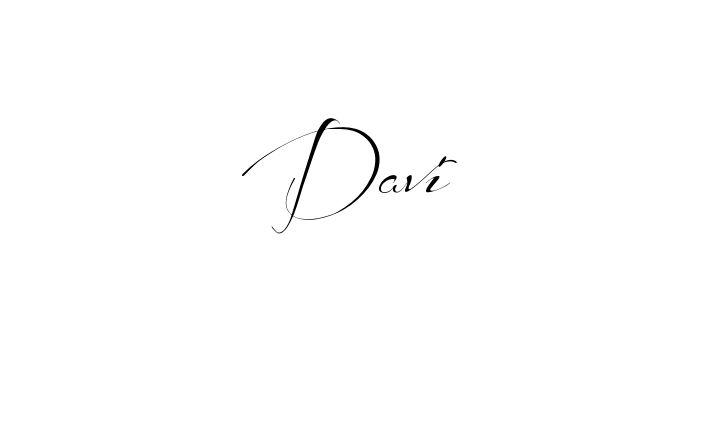 Tatuagem do nome Davi utilizando o estilo Before the Rain Regular