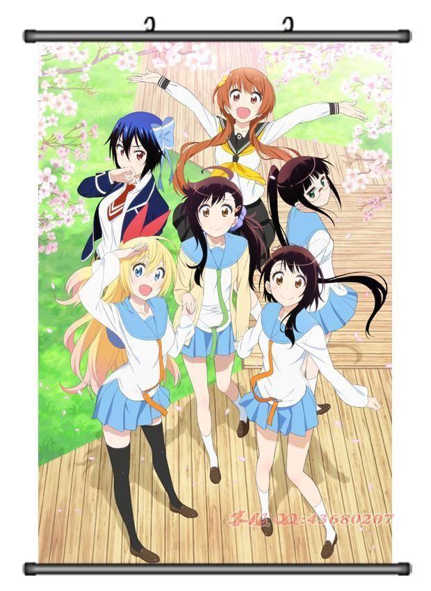 home decor anime japanese poster wall scroll nisekoi tsugumi shonen rh pinterest fr