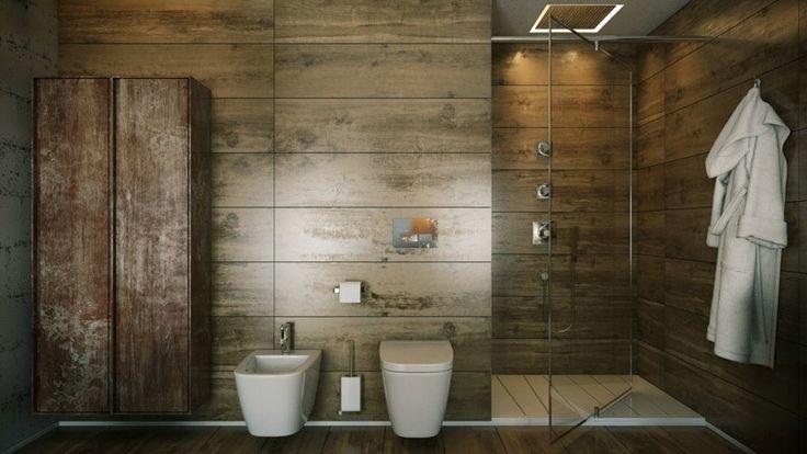 Love the pivoting glass shower door!  No seam!