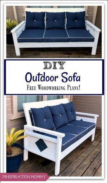 how to build a diy outdoor sofa free woodworking plans rh in pinterest com