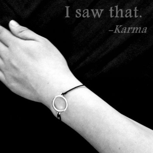 If you do good things , karma do good things back