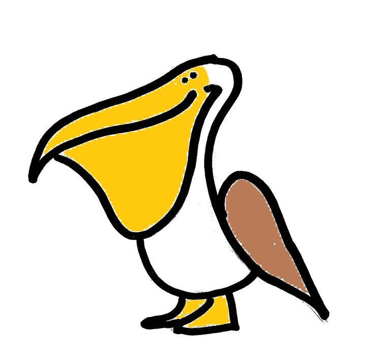 Cartoon Pelican Sketches Drawing Pinterest