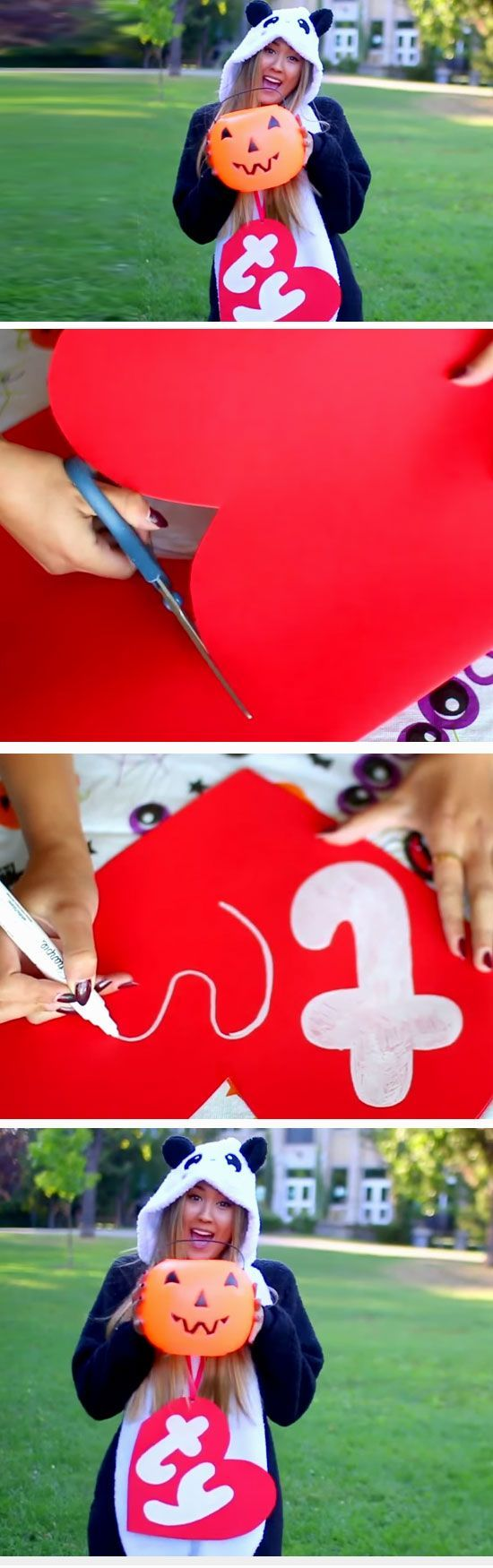 TY Beanie Baby | 26 DIY Halloween Costume Ideas for Teen Girls that will totally rock the party!