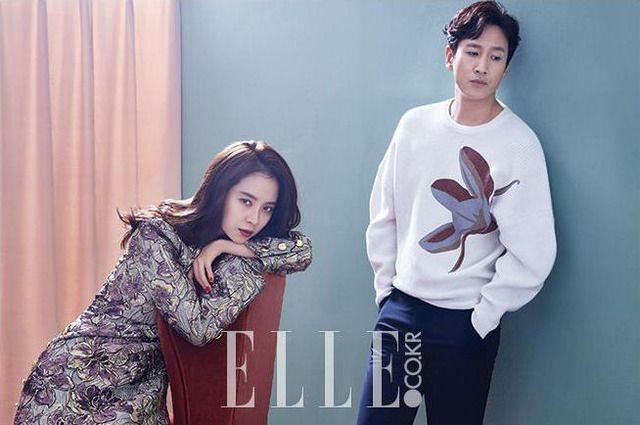 Song Ji Hyo x Lee Sun Kyun for ELLE Korea, November 2016