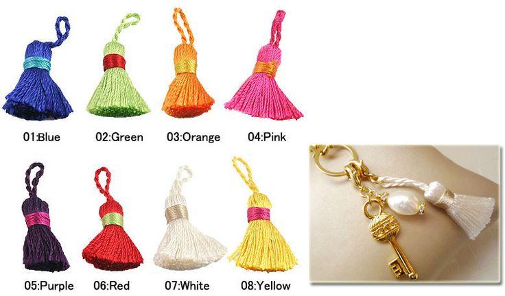 Mini Tassels (Key Tassels) /1pc Size: Length: 3.5 - 4.5cm Rope section: 1.2 - 1.8cm  #ID14781