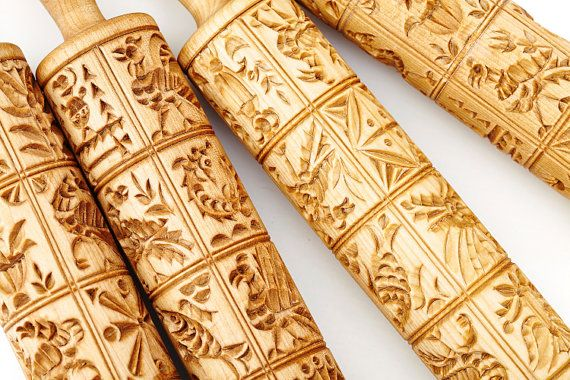 GORODETSKY ROLLING PIN for cookies / от PryanikAndCookie на Etsy