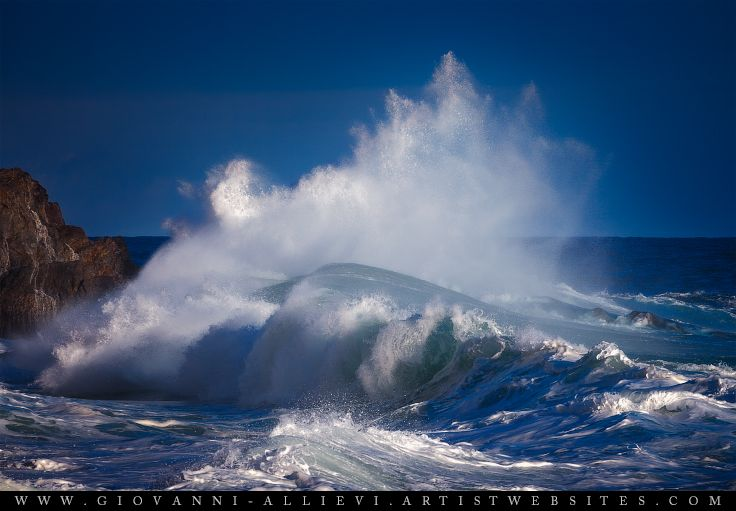 Rough sea 19 seascape with huge wave. Prints available at http://giovanni-allievi.artistwebsites.com/art/all/seascapes/all