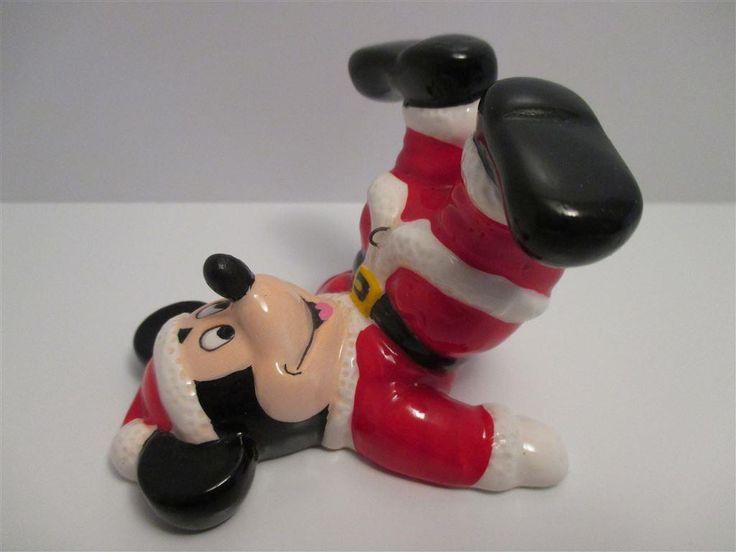 ~ Underbar Musse Pigg som tomtenisse - Walt Disney - porslinsfigur - JUL