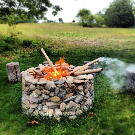 Amazing Gabion Project Ideas Gabion fire pit