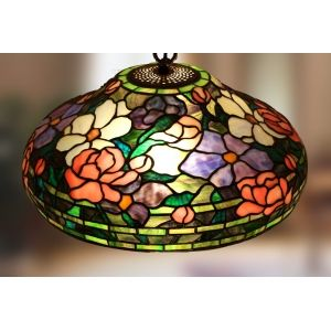Vitrážový lustr LTM555 Peony (Polarfox) - Lustry a lampy