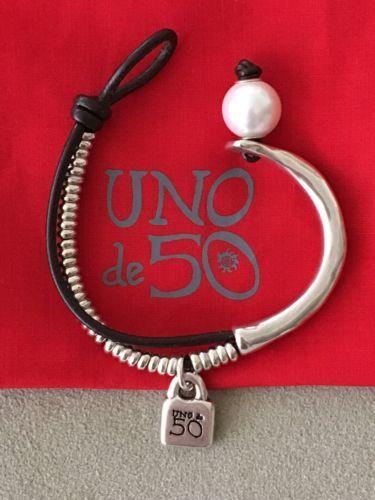 NWT-UNO-de-50-Bracelet-Lonely-Pearl-PUL-1000