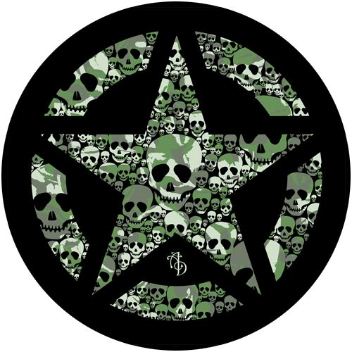 skulls of my demons  Spare wheel cover  Camo R1500