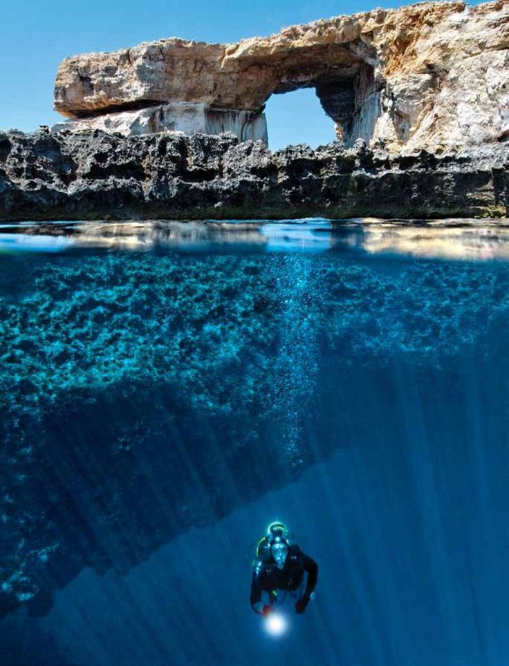 The Mediterranean's answer to Belize? The Blue Hole found off of Malta. Highlight: The archway that leads from the hold to the open sea. Wow.