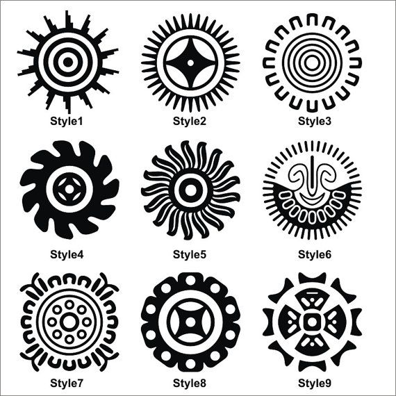 Tribal Native American Indian Mexican Maya Sun by VINYL2079DECALS