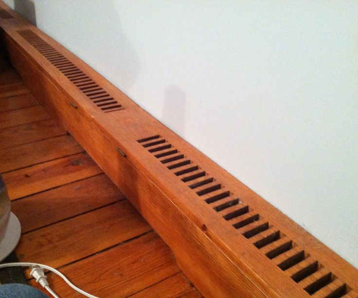 how to make wooden baseboard heater covers - Hydronic Baseboard Heaters