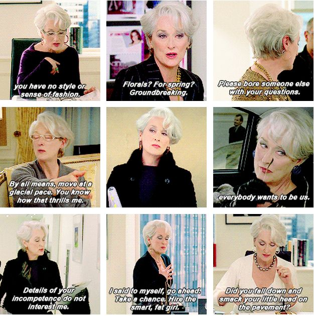 Miranda from The Devil Wears Prada - best sass moments <3