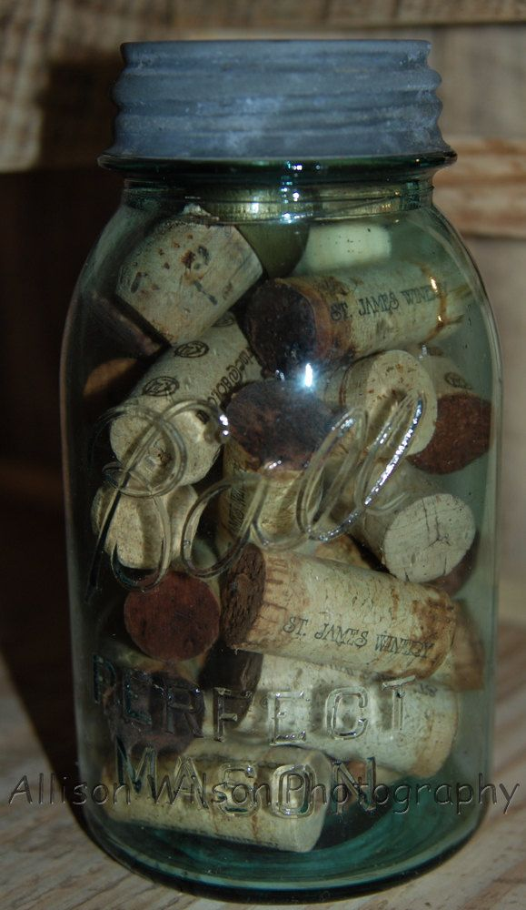 Where can i put the wine corks i have all around my for Kitchen jar decoration
