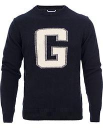 GANT Crispy Cotton G-Crew Pullover Navy