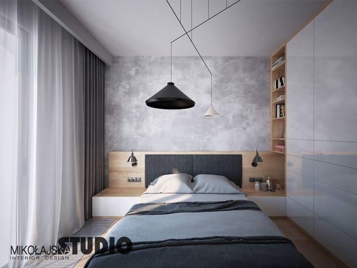 Beton dekoracyjny w sypialni
