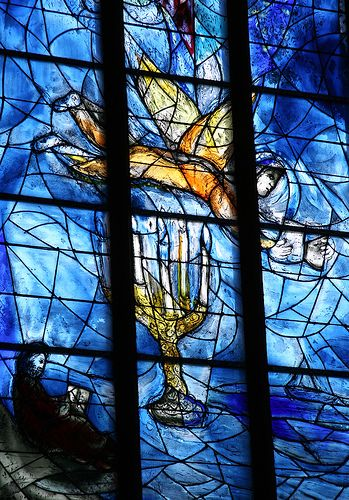 Chagall in St. Stefanskirche in Mainz, Germany.
