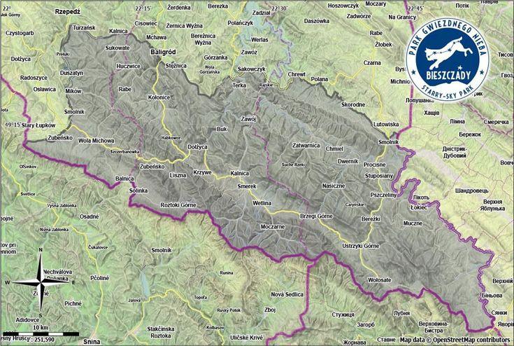 Mapa Parku Gwiezdnego Nieba Bieszczady