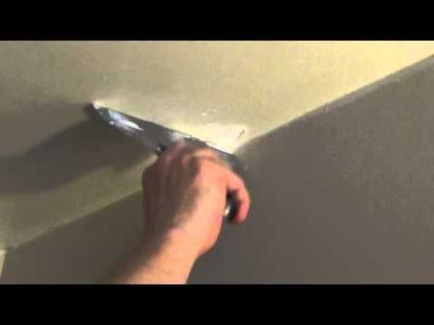 How to Patch a #Hole in The Ceiling - Fix It Small Hole in Drywall - #nailpop YouTube