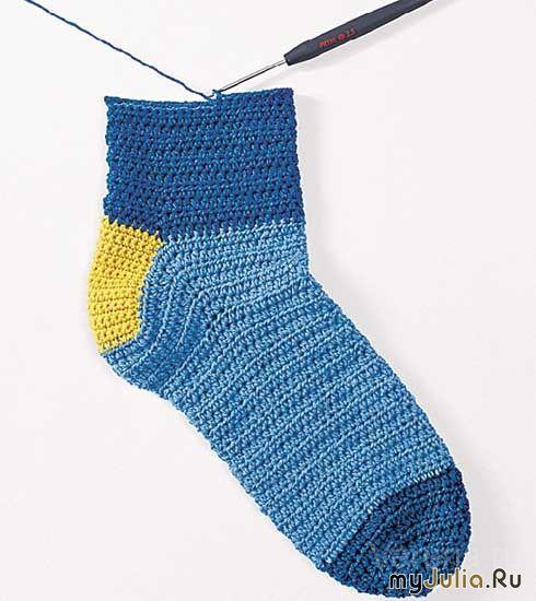 Метод вязания носков крючком