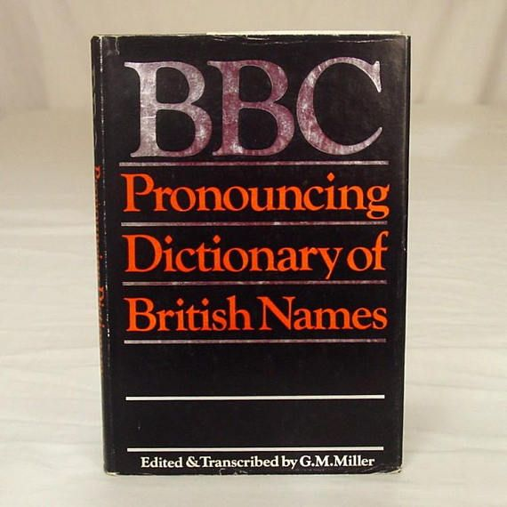 BBC Pronouncing Dictionary of British Names: With an Appendix