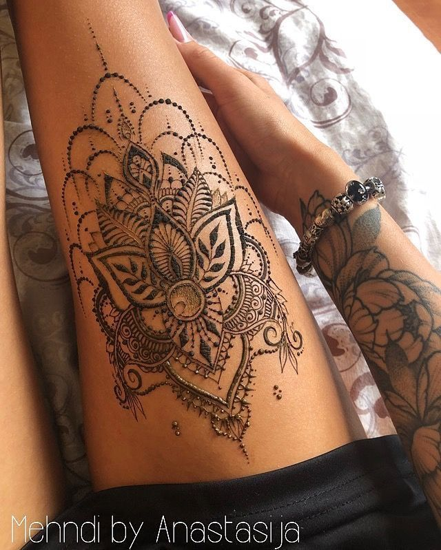 Mandela sur le tatouage de la cuisse – Virginie Bruel – #TattooWomenCement sur l…
