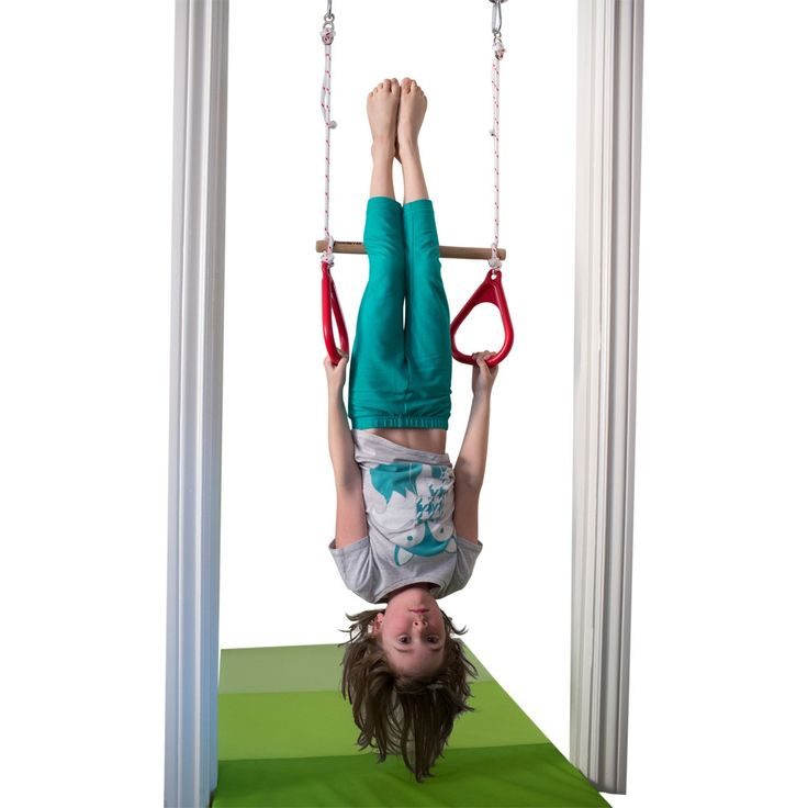 kids hanging chair for bedroom%0A Amazon com  Indoor Swing by DreamGYM   Trapeze Bar and Gymnastic Rings  Combo for