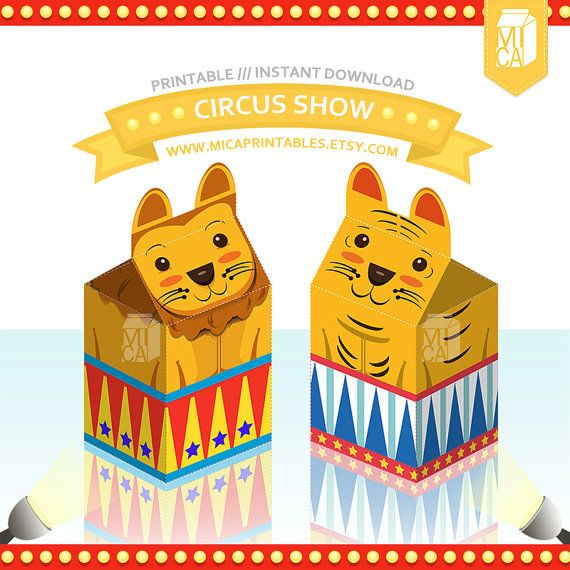 Magic Circus Show Tiger Lion Printable Party by MicaPrintables