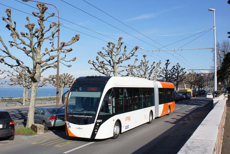 VanHool Exqui.City | Fototak | 2014-01-28 | Geneva, Switzerland #trolleybus #electric #bus