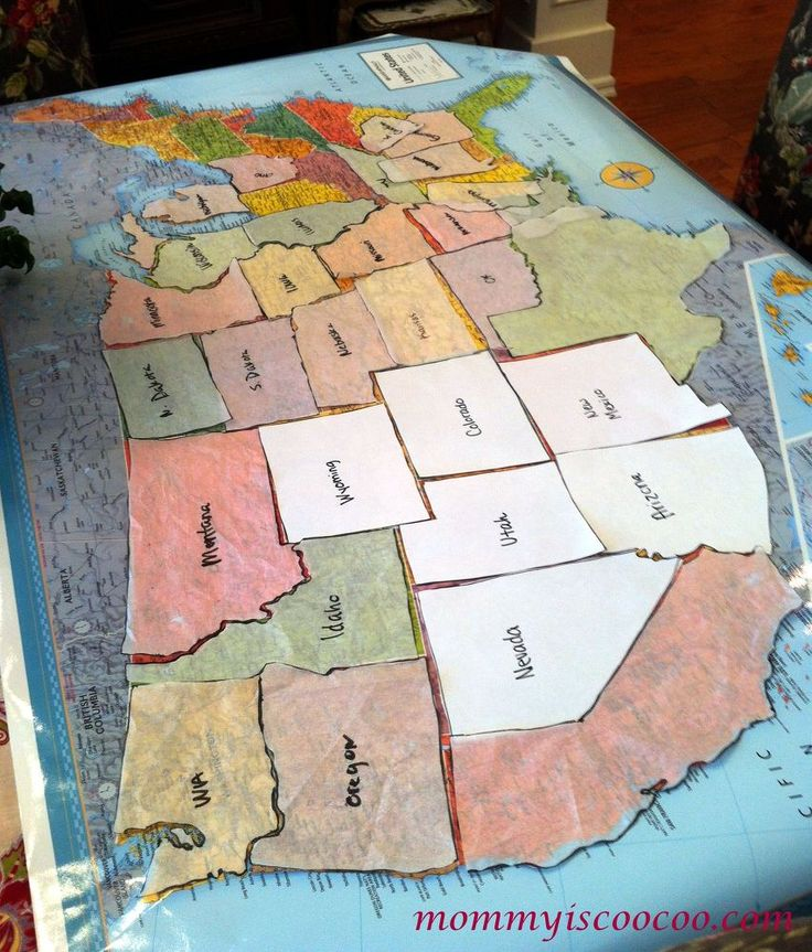 usa fabric remnant map crafts how to