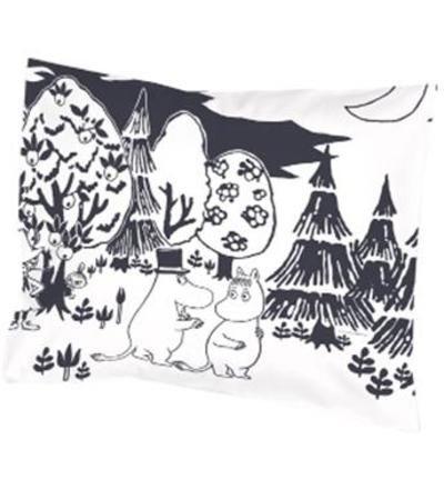Finlayson Iltamuumi 55 x 65 cm tyynyliina | tai  muu mustavalkoinen muumityynyliina