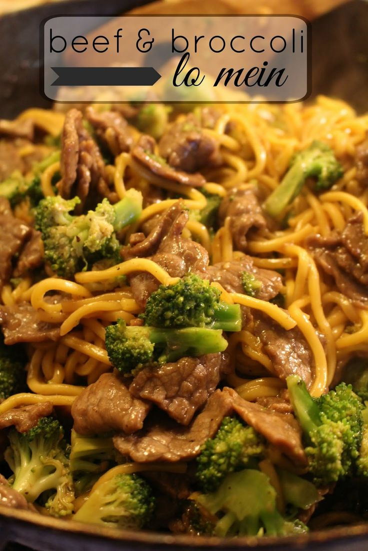 Beef & Broccoli Lo Mein | Sugar for Breakfast: Beef & Broccoli Lo Mein