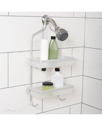 17 best images about shower caddies on pinterest bottle - Bathroom corner caddy stainless steel ...