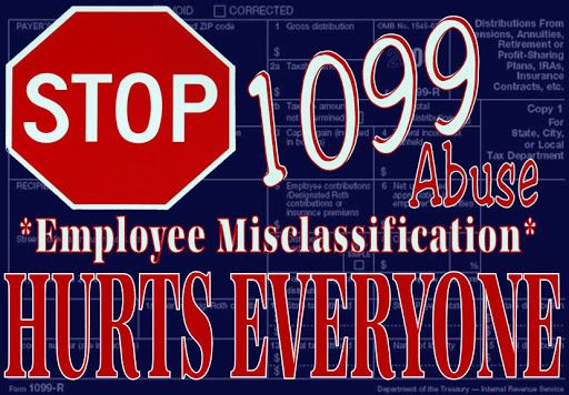 Parents Want Nannies to File 1099 to Avoid Paying Employment Taxes:   Why nannies should not allow themselves to misclassified as independent contractors.  Do not file a 1099. Always submit a W-2.