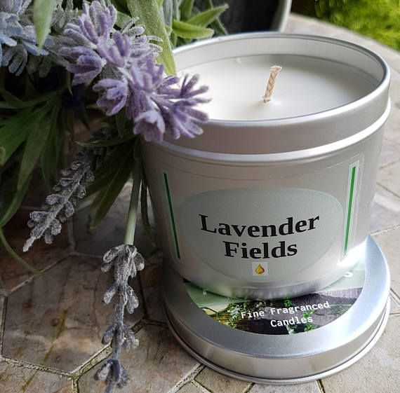 Lavender Fields aromatherapy soy candle. Lavender scented soy