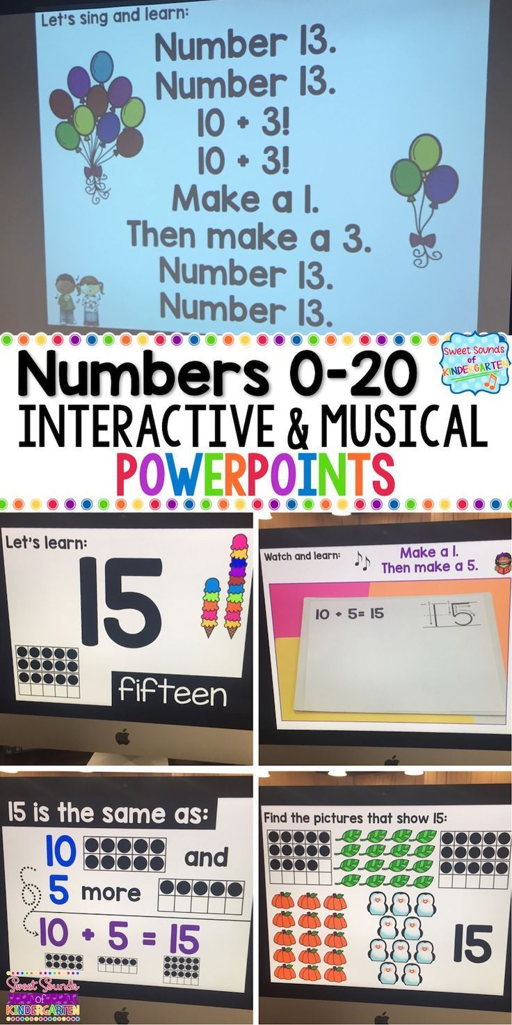 These interactive powerpoints are the perfect way to teach numbers 1-20! Click through to see how you can use them in your classroom. | first grade | second grade | kindergarten | math | teaching | lesson plan