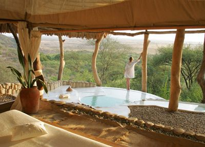 A private conservancy near Tanzania with sweeping views of the Great Rift Valley's volcanic hills. #AdeaEveryday