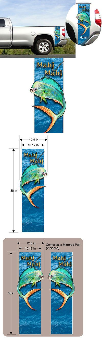 Decals Stickers and Patches 179988: Mahi Mahi - Dolphin Fish - Pickup Truck Bed Band Custom Decal Sticker Kit Larger BUY IT NOW ONLY: $59.85