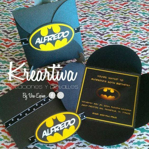 Invitaciones Infantiles de Batman.   Estamos en Reynosa, Tam., buscanos en…