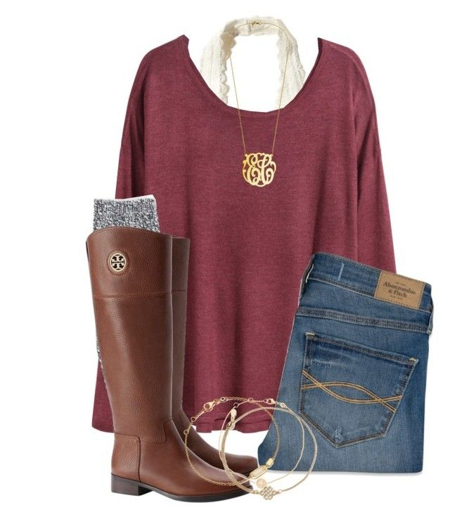 """""""Untitled #103"""" by lhnlila on Polyvore featuring Hollister Co., H&M, J.Crew, Tory Burch, Abercrombie & Fitch, Astley Clarke and Alex and Ani"""