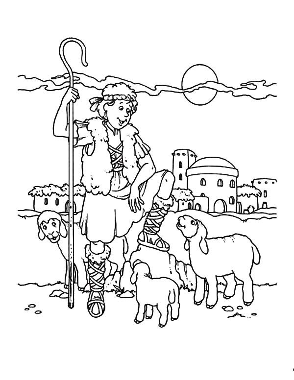 David The Shepherd Boy David The Shepherd Boy Coloring Pages