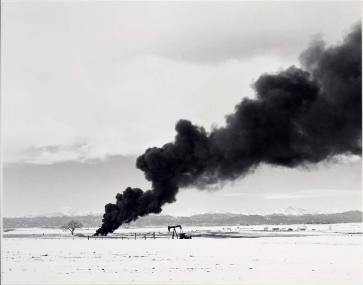 robert-adams-burning-oil-sludge-north-of-denver-colorado-1973