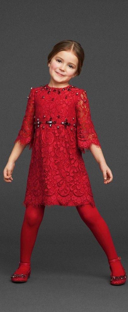 Dolce & Gabbana Girls Dress                                                                                                                                                                                 Mais