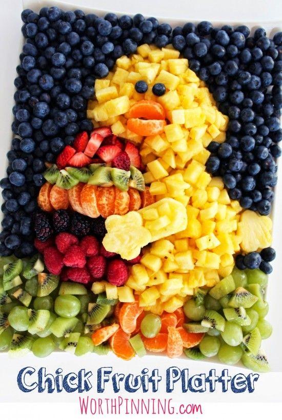 Easter Chick Fruit Platter